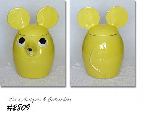 McCOY POTTERY -- YELLOW MOUSE COOKIE JAR