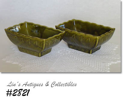 McCOY POTTERY -- PAIR OF MATCHING PLANTERS