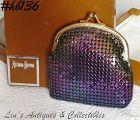 IRIDESCENT METAL MESH COIN / COSMETIC PURSE