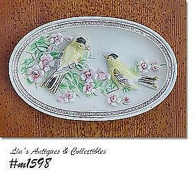 LEFTON -- BIRDS WALL PLAQUE ( IN ORIGINAL BOX)