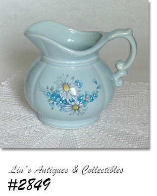 McCOY POTTERY -- BLUE FLOWERS PITCHER