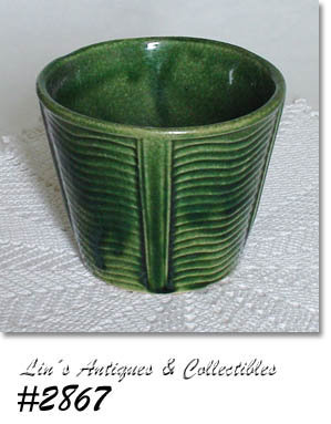 McCOY POTTERY -- GREEN JARDINIERE