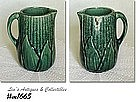 BRUSH POTTERY -- GREEN CORN PITCHER