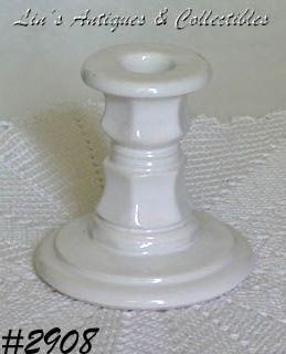McCOY POTTERY -- FLORAL COUNTRY CANDLEHOLDER (1)