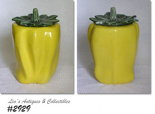 McCOY POTTERY -- YELLOW PEPPER COOKIE JAR