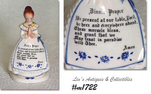 ENESCO -- PRAYER LADY NAPKIN HOLDER (WHITE DRESS)