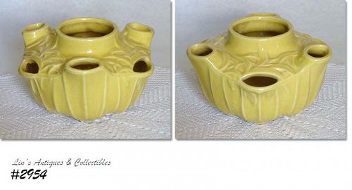 McCOY POTTERY -- HANGING STRAWBERRY PLANTER (YELLOW)