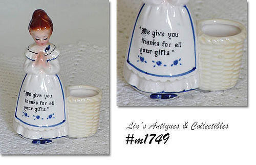 PRAYER LADY TOOTHPICK HOLDER (WHITE DRESS)