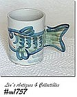 LOUISVILLE STONEWARE -- FISH HANDLE MUG