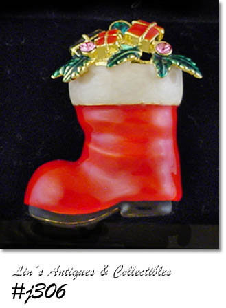 EISENBERG ICE -- SANTA'S BOOT PIN