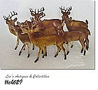 VINTAGE SANTAS' REINDEER 9 OF THEM INCLUDING RUDOLPH