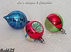1 DOZEN VINTAGE POLAND GLASS ORNAMENTS