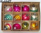 1 DOZEN ASSORTED VINTAGE ORNAMENTS