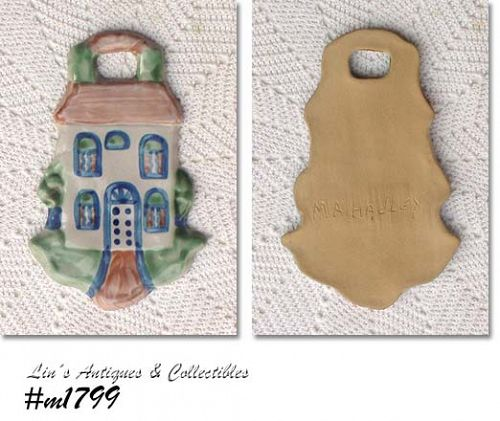 LOUISVILLE STONEWARE - M.A. HADLEY HOUSE SHAPE PLAQUE
