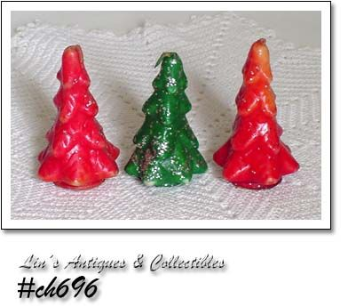 GURLEY CANDLES -- 3 SMALL CHRISTMAS TREES