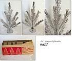 2 FT. VINTAGE TREASURE PINE ALUMINUM CHRISTMAS TREE IN BOX