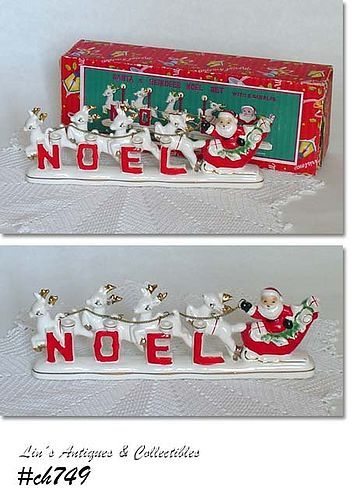RELCO -- SANTA AND REINDEER NOEL SET