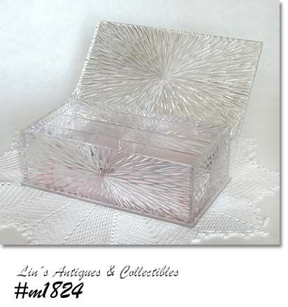 CELEBRITY -- CRYSTAL CUT JEWELRY BOX