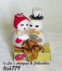 VINTAGE SNOWMAN CAROLERS GIFT BOX