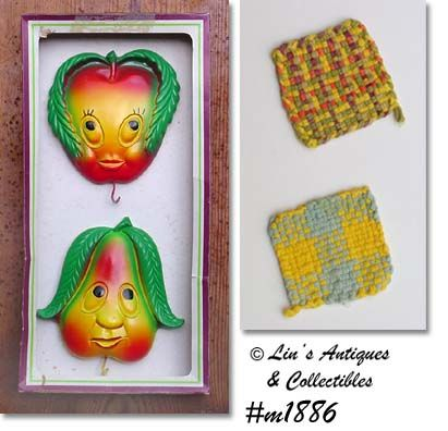 MILLER STUDIOS -- ANTHROPOMORPHIC FRUIT PLAQUES