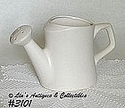 "McCOY POTTERY -- WATERING ""CAN"" (MATTE WHITE)"