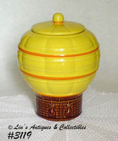 McCOY POTTERY -- HOT AIR BALLOON COOKIE JAR