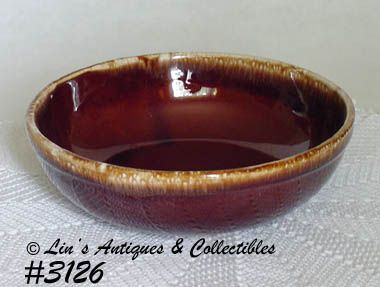 McCOY POTTERY -- BROWN DRIP SERVING BOWL