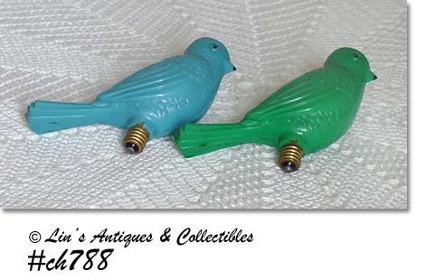 PAIR OF PLASTIC BIRD BULBS
