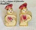 SHAWNEE POTTERY -- GOLD TRIM BAKERS (CHEFS) SHAKER SET