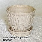 McCOY POTTERY -- LOTUS LEAVES AND BERRIES FLOWERPOT