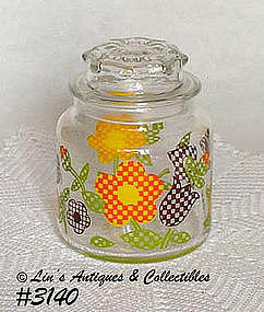 McCOY POTTERY -- GINGHAM GARDEN GLASS JAR