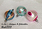1 DOZEN POLAND BEAUTIFUL VINTAGE GLASS CHRISTMAS ORNAMENTS