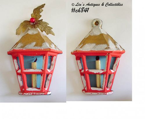 "PAIR OF ""LANTERN"" WALL DECORATIONS"