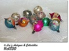 1 DOZEN POLAND VINTAGE GLASS CHRISTMAS ORNAMENTS