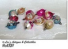 1 DOZEN POLAND VINTAGE GLASS REFLECTOR CHRISTMAS ORNAMENTS