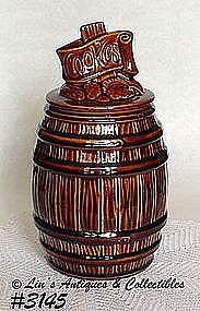 McCOY POTTERY -- BROWN COOKIE BARREL