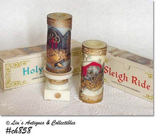 PAIR OF BEAUTIFUL CANDLES (1978)