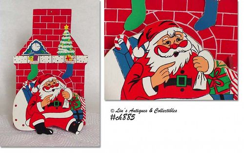 SANTA AND CHIMNEY -- CARD HOLDER