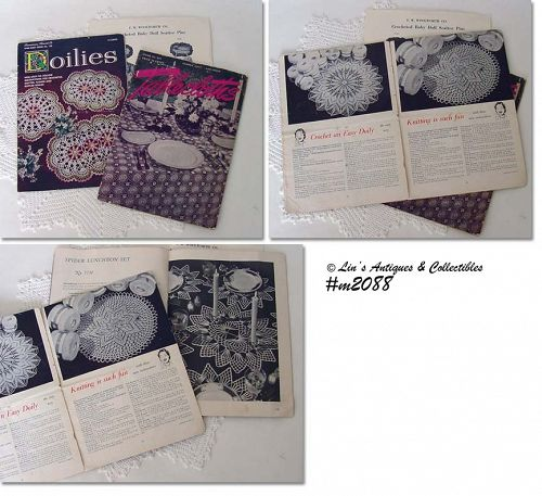 INSTRUCTION BOOKLETS -- DOILIES AND TABLECLOTHS