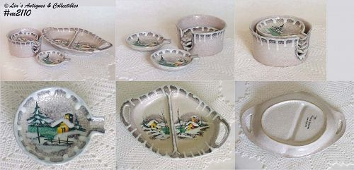 SNACK PLATE AND PARTY ASHTRAYS (ITALY)