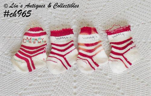 4 MINI CHRISTMAS SOCKS