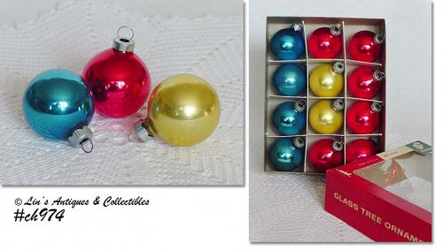 1 DOZEN SMALL ORNAMENTS