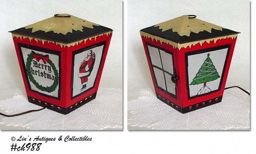 ELECTRIC CHRISTMAS LANTERN (METAL)