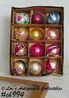 1 DOZEN VINTAGE GLASS POLAND CHRISTMAS ORNAMENTS