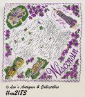 "STATE HANDKERCHIEF -- WISCONSIN, ""THE BADGER STATE"""