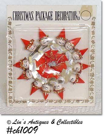 CHRISTMAS GIRLS (SANTAS) PACKAGE DECORATIONS