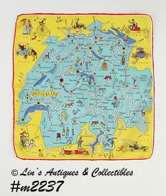 SOUVENIR HANDKERCHIEF -- SWITZERLAND