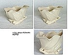McCOY POTTERY -- LILY BUD SHELL PLANTERS (WHITE)