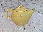 McCOY POTTERY -- VINTAGE YELLOW TEAPOT TEA SERVER
