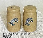 McCOY POTTERY -- BLUEFIELD SHAKER SET